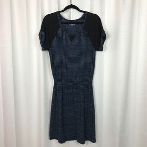 Caslon Black&Blue Stripe Knit Dress Sz.M